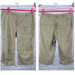 THE NORTH FACE OLIVE CARGO CAPRIS SIZE 6
